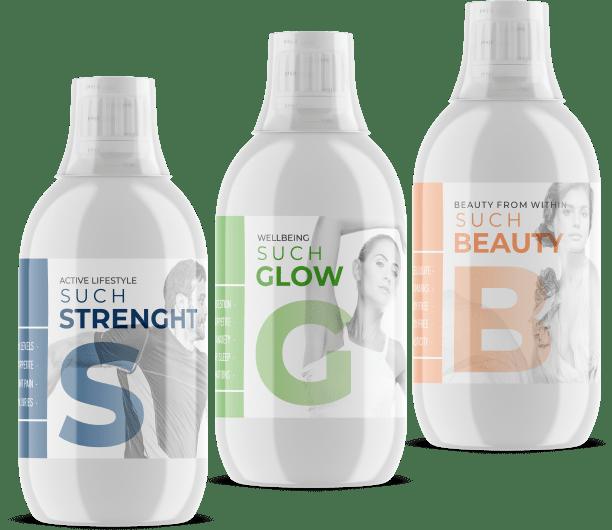 White Label Collagen bottles